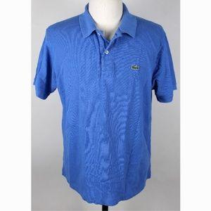 Lacoste 6 Pique Polo Shirt MENS XL Blue A4-13